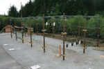 High Ropes Wooden Poles